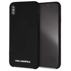 Чехол-накладка Lagerfeld Silver logo для iPhone Xs Max, силикон, чёрный / серебристый, фото 1