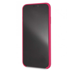 Чехол-накладка Lagerfeld Silver logo для iPhone Xs Max, силикон, розовый / золотистый, фото 2