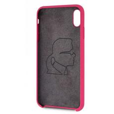 Чехол-накладка Lagerfeld Silver logo для iPhone Xs Max, силикон, розовый / золотистый, фото 3