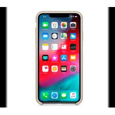 Чехол-накладка Apple для iPhone Xs, силикон, бежевый, фото 2