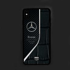 "Чехол Jumo Case для iPhone Xs Max, карбон, никель с посеребрением, ""Mercedes-Benz"", фото 1"