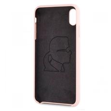 Чехол-накладка Karl Lagerfeld logo Gold для iPhone Xs MAX, светло-розовый, фото 2