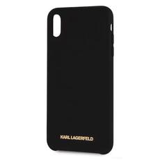 Чехол-накладка Karl Lagerfeld logo Silver для iPhone Xs Max, чёрный, фото 1