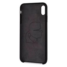 Чехол-накладка Karl Lagerfeld logo Silver для iPhone Xs Max, чёрный, фото 2