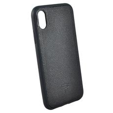 Чехол TORIA EPSOM для iPhone XS Max, поликарбонат / кожа, чёрный, фото 1
