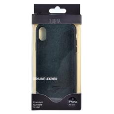 Чехол TORIA EPSOM для iPhone XS Max, поликарбонат / кожа, чёрный, фото 5