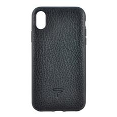 Чехол TORIA EPSOM для iPhone XS Max, поликарбонат / кожа, чёрный, фото 2