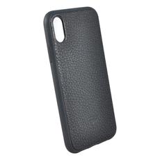 Чехол TORIA EPSOM для iPhone XS Max, поликарбонат / кожа, чёрный, фото 3