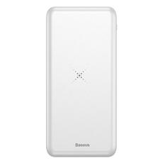 Внешний аккумулятор Baseus M36 Wireless Charger, 2 USB-A, Micro-USB, 10000 mAh, белый, фото 2