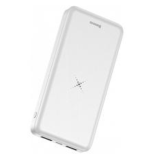 Внешний аккумулятор Baseus M36 Wireless Charger, 2 USB-A, Micro-USB, 10000 mAh, белый, фото 3