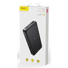 Внешний аккумулятор Baseus M36 Wireless Charger, 2 USB-A, Micro-USB, 10000 mAh, чёрный, фото 3