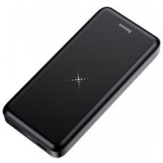 Внешний аккумулятор Baseus M36 Wireless Charger, 2 USB-A, Micro-USB, 10000 mAh, чёрный, фото 1