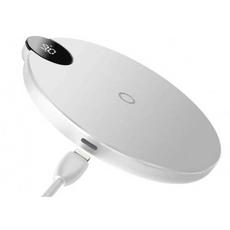 Беспроводное зарядное устройство Baseus Digtal LED Display, белый, фото 2