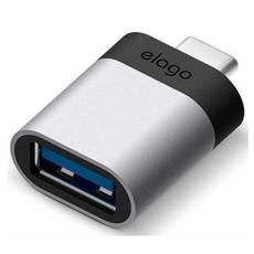Переходник Elago, с USB-A на USB-C, серебристый, фото 1