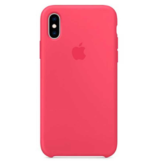 "Чехол-накладка Apple для iPhone Xs, силикон, ""красный каркаде"", фото 1"