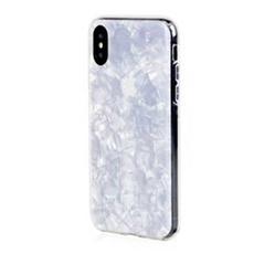 Чехол-накладка Bling My Thing Chic Collection White Pearl для iPhone Xs MAX, поликарбонат, белый / прозрачный, фото 1