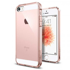 Чехол-накладка SGP Ultra Hybrid для iPhone 5/5s/SE, полиуретан / поликарбонат, розовый / прозрачный, фото 1