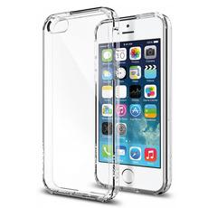 Чехол-накладка SGP Ultra Hybrid для iPhone 5/5s/SE, полиуретан, прозрачный, фото 1