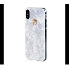Чехол-накладка Bling My Thing Tresure, Gold Skull для iPhone Xs Max, с кристаллами Swarovski, белый, фото 1