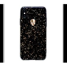 Чехол-накладка Bling My Thing Tresure Gold Skull для iPhone Xs Max, с кристаллами Swarovski, чёрный / золотой, фото 1
