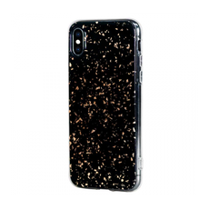 Чехол-накладка Bling My Thing Chic Collection Gold Galaxy для iPhone Xs Max, полиуретан, чёрный / золотой, фото 1
