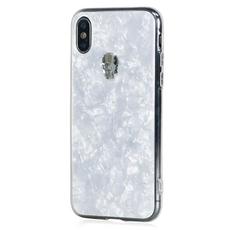 Чехол-накладка Bling My Thing Tresure Silver Skull для iPhone Xs MAX, с кристаллами Swarovski, белый, фото 1