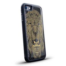 """Эксклюзивный чехол Jumo Case для iPhone 8 Plus, карбон, никель с позолотой 24К, """"Лев"""", фото 1"""