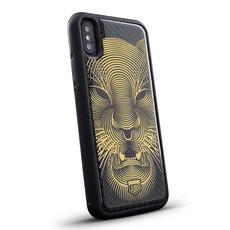"""Эксклюзивный чехол Jumo Case для iPhone X, карбон, никель с позолотой 24К, """"Тигр"""", фото 1"""