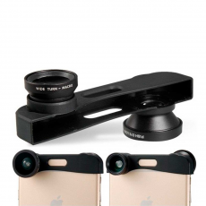 Объектив (3 в 1) для iPhone 6 Plus.черный. PHO-FWM-6, фото 2