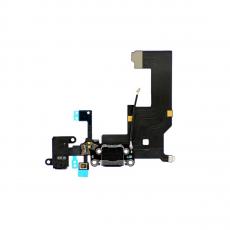 Шлейф зарядки, аудио, микрофона и антенны для iPhone 5S, оригинал, черный, фото 1