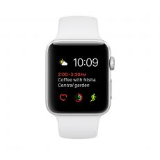 Apple Watch Series 1, 42 мм, корпус из серебристого алюминия, спортивный ремешок белого цвета trade-in, фото 1