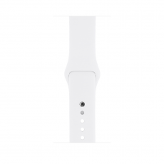 Apple Watch Series 1, 38 мм, корпус из серебристого алюминия, спортивный ремешок белого цвета, фото 1