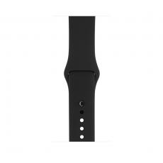 Apple Watch Series 1, 38 мм, корпус из алюминия цвета «серый космос», спортивный ремешок чёрного цвета, фото 1