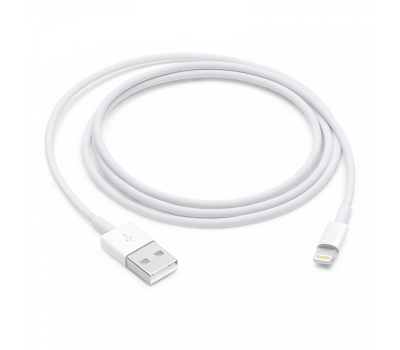 Фото кабеля Apple с разъемами USB и Lightning (MD818)