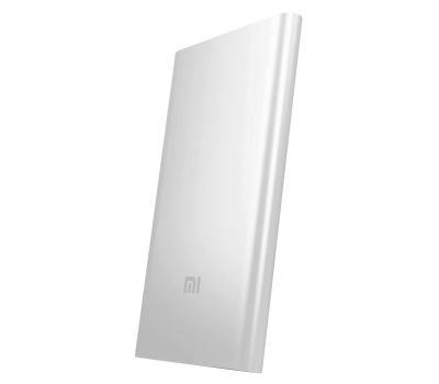Внешний аккумулятор Xiaomi Mi Power Bank, USB-A, Micro-USB, 5000 mAh, серебристый, фото 1