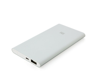 Внешний аккумулятор Xiaomi Mi Power Bank 5000 mAh, серебристый, фото 3