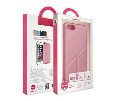 Чехол для iPhone 7 Ozaki O!coat 0.3 + Totem Versatile (розовый), фото 2