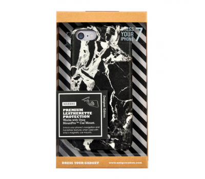 Чехол Uniq Marbre для iPhone 7, черный, фото 3
