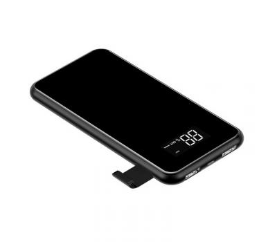 Внешний аккумулятор Baseus Power bank Wireless Charge, 2 USB-A, Micro-USB, 8000 mAh, чёрный, фото 2