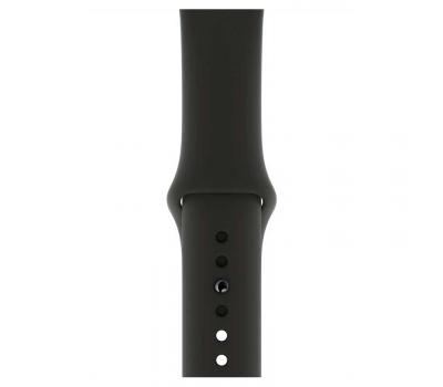 """Apple Watch Series 4, 44 мм, корпус из алюминия цвета """"серый космос"""", спортивный ремешок черного цвета, фото 3"""