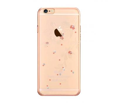 Чехол крышка Devia Crystal Flowery для iPhone 6/6S, шампанское золото, фото 1