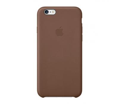 Чехол кожаный Apple для iPhone 6s, коричневый, MKXR2, фото 1