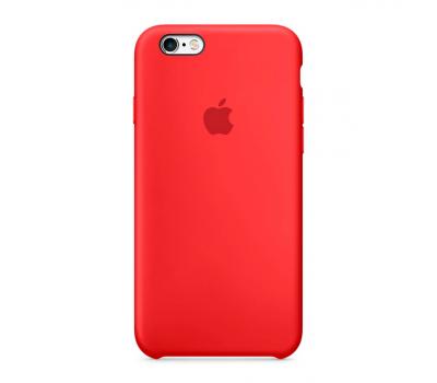Чехол силиконовый Apple iPhone 6S, красный, фото 1