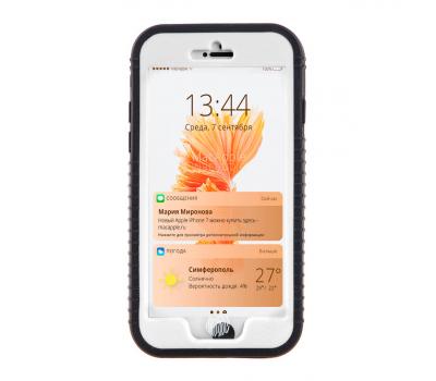 Водонепроницаемый чехол Waterproof Case для iPhone 6/6S, черный/белый, фото 1