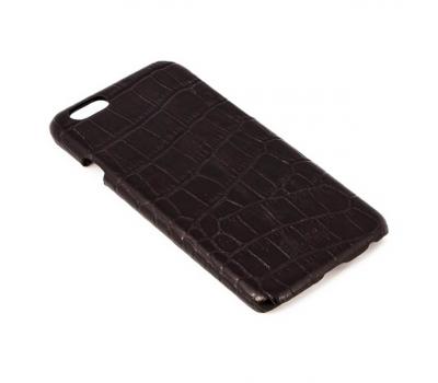 Чехол Heddy Leather Cover Croco для iPhone 6/6S нат.кожа., черный, фото 1