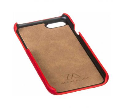Чехол из текстурированной кожи Moodz для iPhone 7 и 8, красный, фото 3