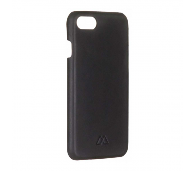 Кожаный чехол для iPhone 7 Moodz Soft leather Hard Notte (чёрный), фото 2