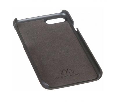 Кожаный чехол для iPhone 7 Moodz Soft leather Hard Notte (чёрный), фото 3