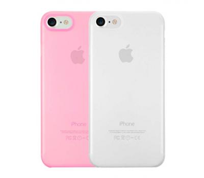 Набор из двух чехлов Ozaki 0.3 Jelly для iPhone 7, прозрачный и розовый, фото 1