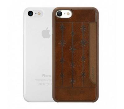 Набор из двух чехлов Ozaki Jelly и Ozaki Pocket для iPhone 7, прозрачный и коричневый, фото 1